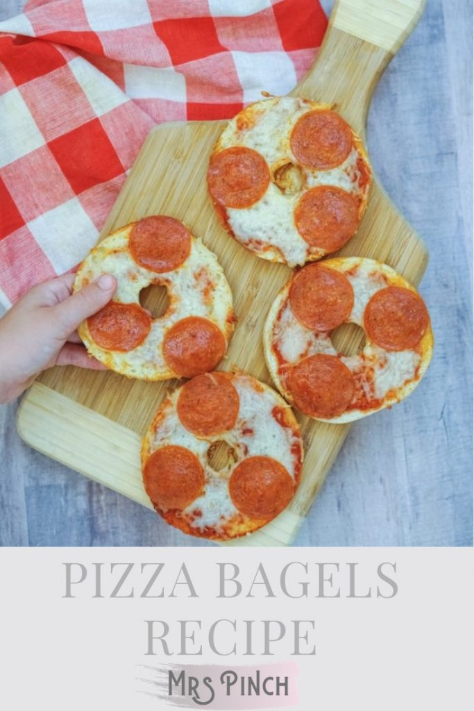Pizza bagels recipe