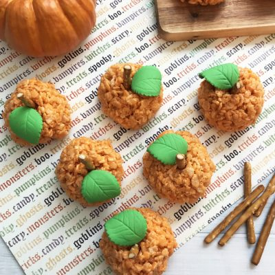 Pumpkin Halloween rice krispie treats recipe
