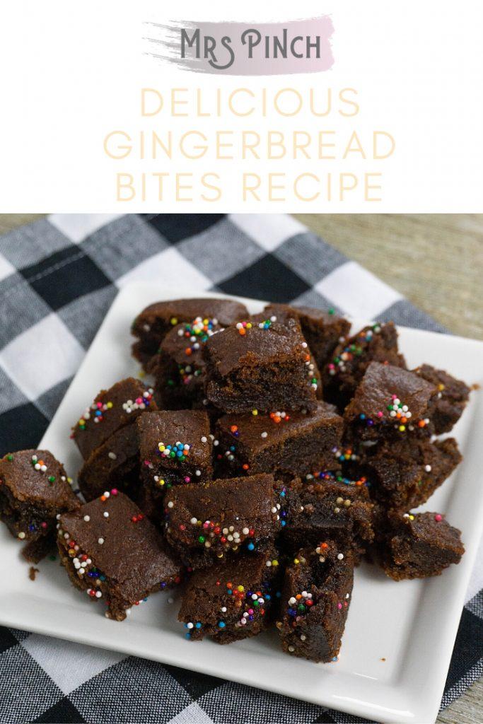 Delicious gingerbread bites recipe