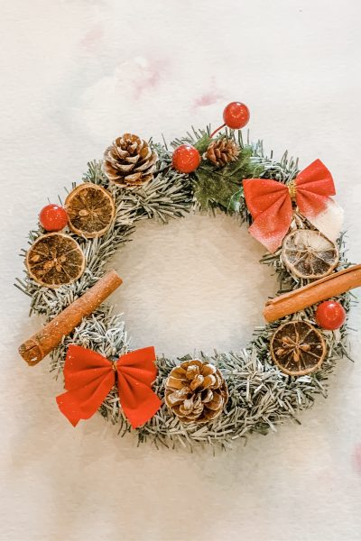 Poundland Christmas wreath