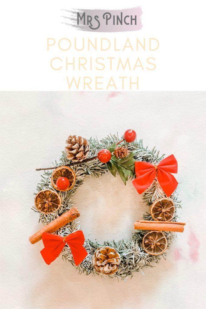 Poundland Christmas wreath