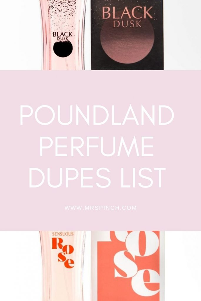 Poundland Perfume Dupes List